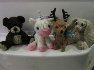 Bear, Unicorn, Deer, Rabbit