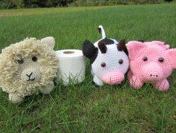 Farm Animal Toilet Paper Holder