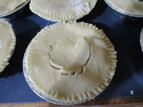 An uncooked turkey potpie